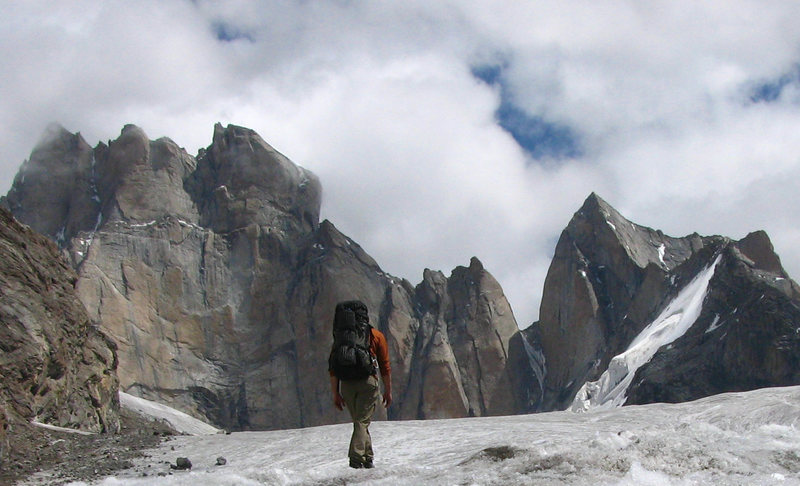 Rock Climbing Photo: Approaching Mt. Mahindra in the Miyar Valley, Indi...