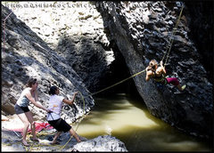 Rock Climbing Photo: Melissa getting her pre climb water crossing warm-...