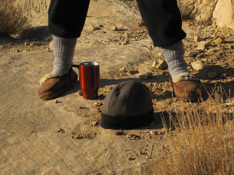 Important gear for the Swell... Elk fur slippers with Elk hoof soles so one leaves no trace of human presence.