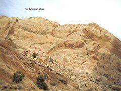 Rock Climbing Photo: A)Curiosity Killed The Rat.5.9+ B)Rat Trap.5.10.C)...