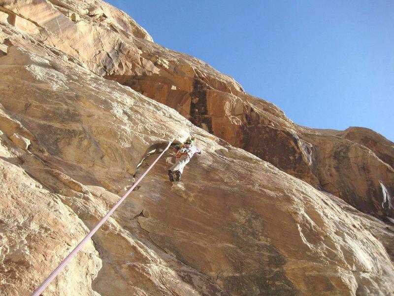 Rock Climbing Photo: Pat working it>