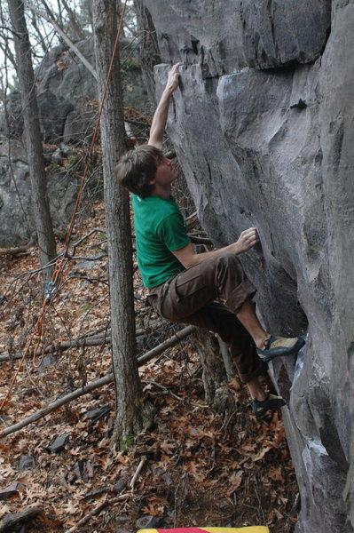 Rock Climbing Photo: Matching the rail