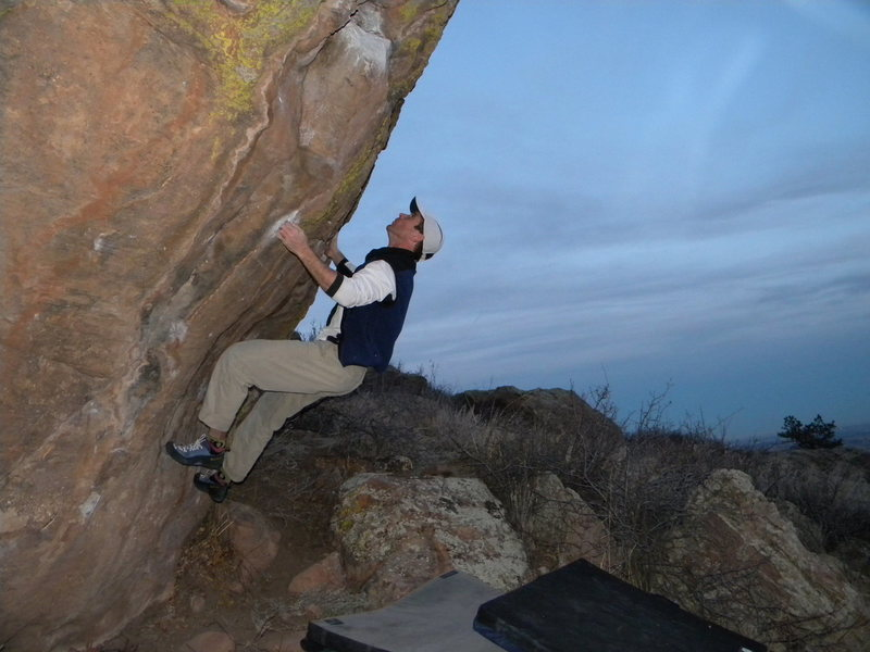 Rock Climbing Photo: David Mikelsons, on the Scenic Boulder.