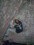 Rock Climbing Photo: Jamin' the crack.