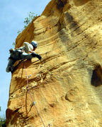 Rock Climbing Photo: crackMD on cranks on sport too!