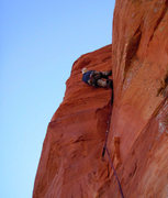 Rock Climbing Photo: Scott on FA of second pitch