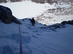 Rock Climbing Photo: A bit more snow on the route seemed to hide some o...