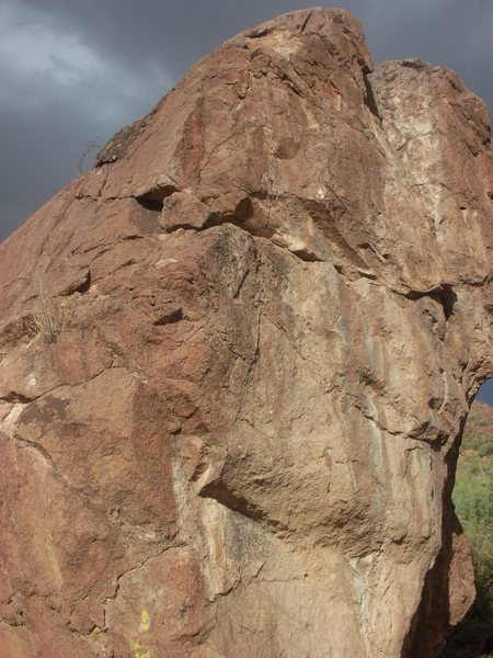 Rock Climbing Photo: A close up of the crack problem.