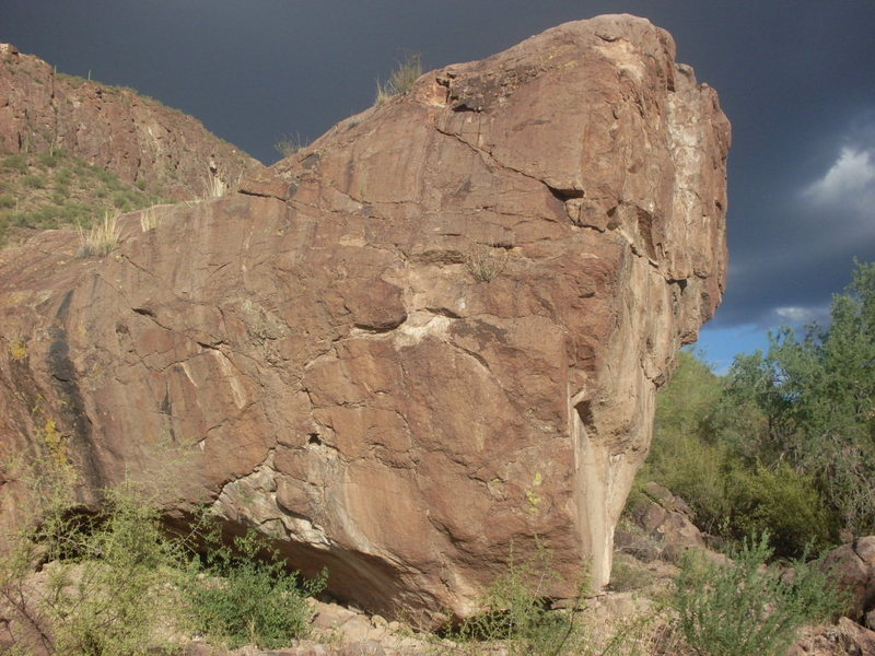 Rock Climbing Photo: The boulder.