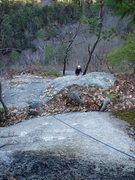 Rock Climbing Photo: Looking back at my friend Liam from the top of the...