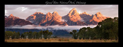Rock Climbing Photo: Grand Teton Range from Mormon Row.  Sep 2007.  Pho...