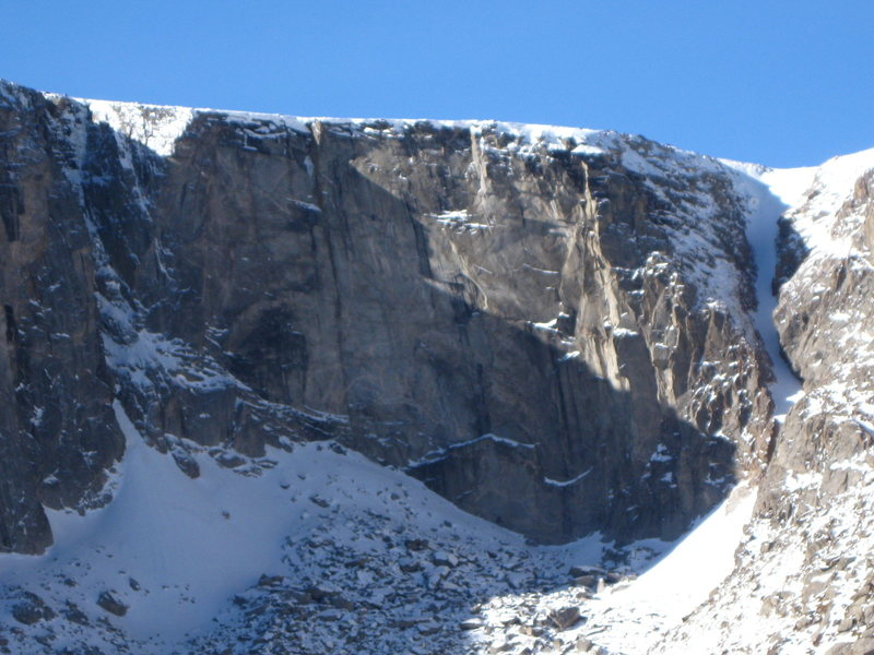 "Rock Climbing Photo: Black Wall from ""The Road"" in winter."