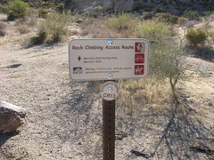 Rock Climbing Photo: North Access Area trail sign to Morrell's