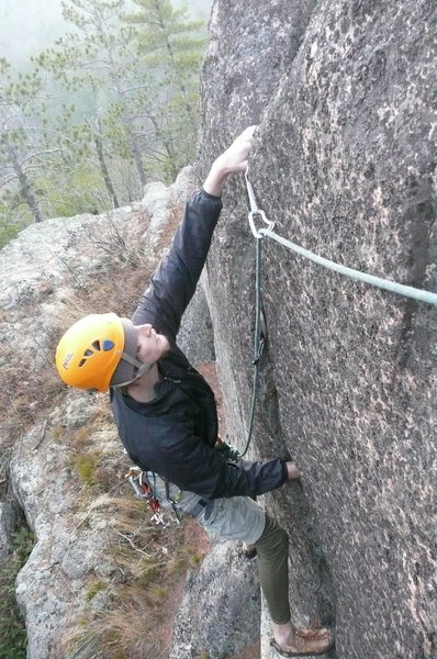 Rock Climbing Photo: zack at the top