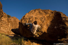 Rock Climbing Photo: Nobody here gets out alive, Hueco Tanks.