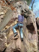 Rock Climbing Photo: Dave Nelson climbing lower arete of Faith Hope Ten...
