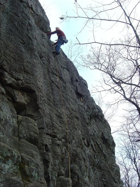 Rock Climbing Photo: First sport lead. Photo by Chris E.