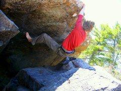 Rock Climbing Photo: v2 on the backside