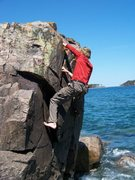 Rock Climbing Photo: first accent of crazy crack line on the front of t...