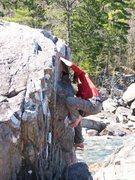 Rock Climbing Photo: zac climbing jam block