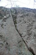 Rock Climbing Photo: the tips crack
