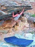 Rock Climbing Photo: Sticking the big lunge