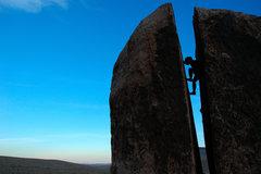 Rock Climbing Photo: Dusk in Plumber's Crack