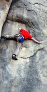 David Potter on Charles' Split working the crux <br />