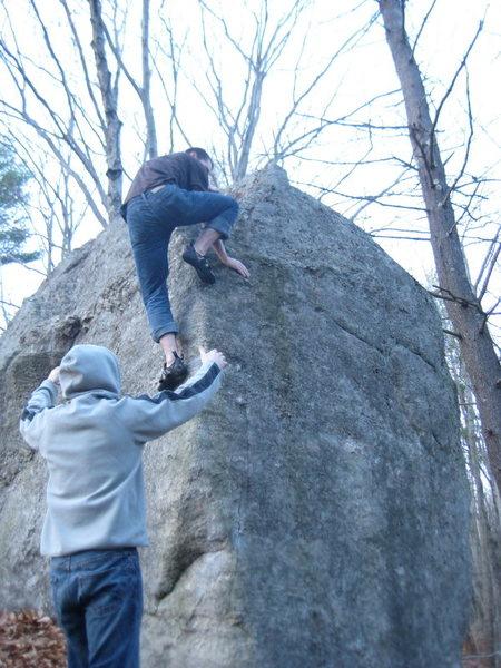 Rock Climbing Photo: Finishing 'err off
