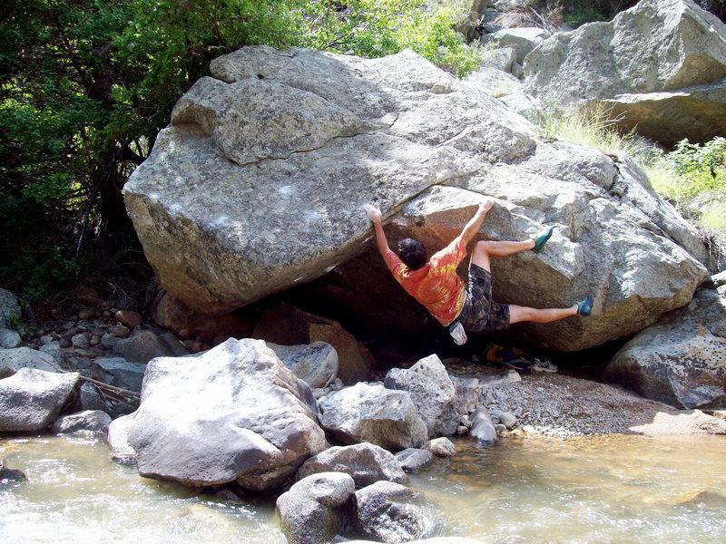 Terrapin Traverse, Boulder Canyon.