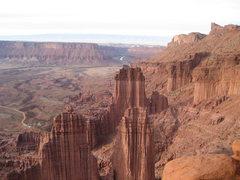 Rock Climbing Photo: The Titan: summit view.