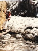 Rock Climbing Photo: A classic. Start from Feb. ice jam on Rock Creek a...