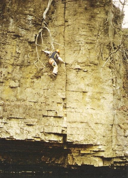 Rock Climbing Photo: Another deep water start, or top rope lowered rout...
