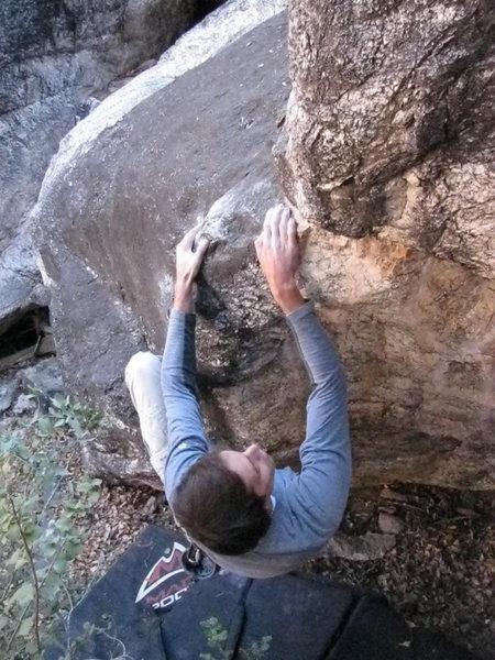 Rock Climbing Photo: Ryan on Little Fish