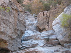 Rock Climbing Photo: Molino Basin, looking upstream. Boxcar Boulder on ...
