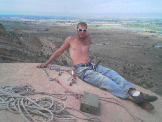Rock Climbing Photo: Me on top of the Monk.