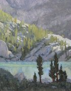 Rock Climbing Photo: An oil painting I did of one of the lakes.  I thin...