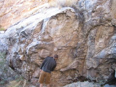 Rock Climbing Photo: Joe K. checking things out.  Note, there is a larg...