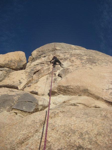 Rock Climbing Photo: Roger on Barely Crankin