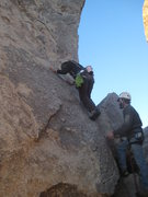 Rock Climbing Photo: not even close to the first bolt on Cryptic