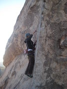 Rock Climbing Photo: getting the first bolt on Cryptic