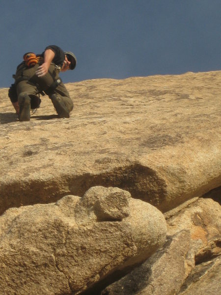 Bill on the friction slab above the crux of Search for Klingons