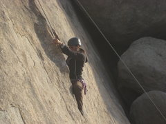 Rock Climbing Photo: me at the crux of Search for Klingons