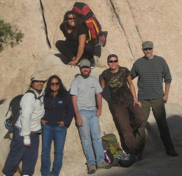 Team Pinto after a weekend of climbing in Joshua Tree!