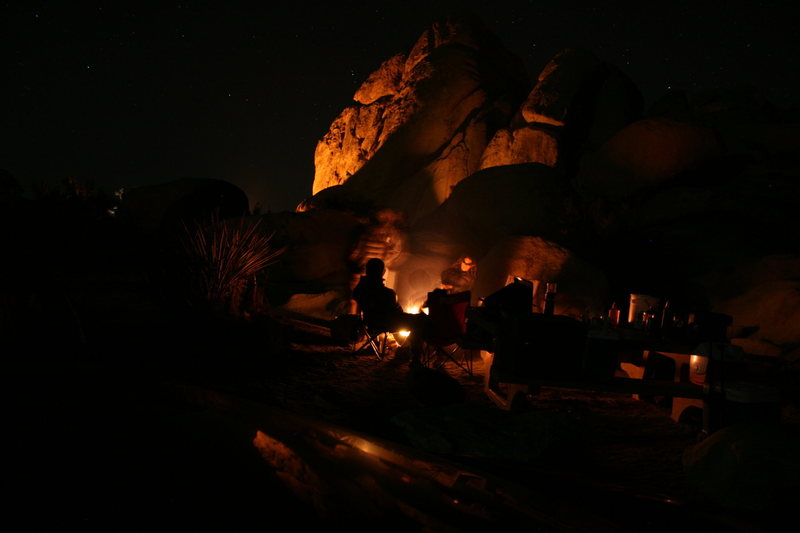our camp Saturday night