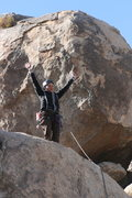 Rock Climbing Photo: finished with the right crack on the wall behind H...