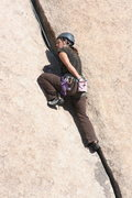 Rock Climbing Photo: on the main crack on Leaping Leaner