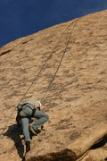 Rock Climbing Photo: Nate over the crux of Search for Klingons