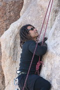 Rock Climbing Photo: Roger starting the left crack on the wall behind H...