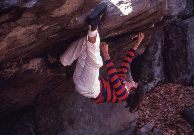 Rock Climbing Photo: About 17 yrs old , somewhere in Maryland . 1976-77...